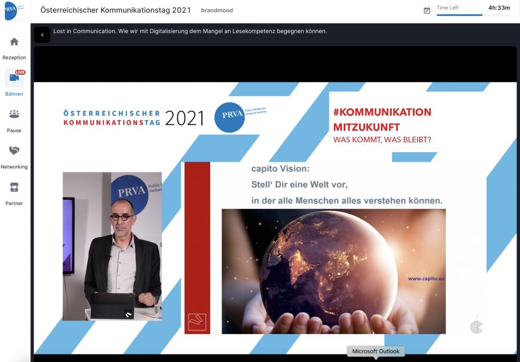 Klaus Candussi von atempo beim Kommunikationstag 2021